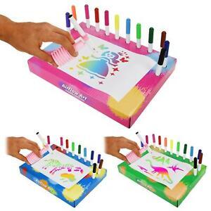 AirFlow Art Drawing Set Stencil Pens Childrens Kids Creative Boys Girls Toys