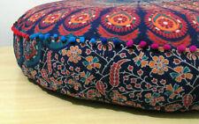 Indisch Sitzkissen Rund Überwurf 88.9cm Kissenbezug Fußhocker Boden Flickwerk