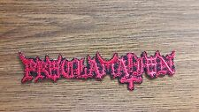 PROCLAMATION,IRON ON RED EMBROIDERED PATCH