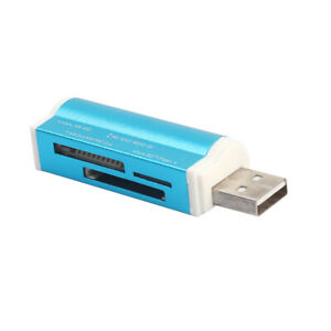 5in1 USB2.0 Speicherkartenleser Stick Kartenlesegerät für Micro SD TF Blau