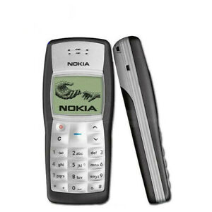 Nokia 1100 Good Condition Refurbished Jet Black Classic Unlocked Mobile Phone