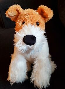 Gund Jacob Wire Fox Terrier Dog Plush Stuffed Animal Puppy Retired 4048303