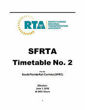 SFRTA Tri Rail Employee Timetable #2 June 1 2016 ETT South Florida Reprint