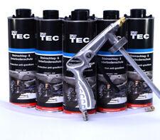 6 Unterbodenschutz überlackierbar schwarz + 1UBS/HV Spritzpistole Autolack/E0014