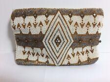 Vintage Art Deco Beaded Rhinestone Small Clutch Purse Handbag 1930s