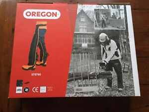 Oregon class1 chainsaw trousers still in box. One size. Adjustable belt and leg