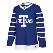 Men's Toronto Arenas adidas Blue Throwback Authentic Hockey Jersey 50 Medium