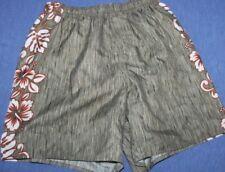 Quicksilver  Hawaiian   Swim Trunks mesh lined   Shorts   small  28 - 35