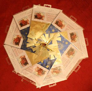 Lifescapes Wrap CD Gift Wrap With Ribbon Easy No Scissors Or Tape Set Of 9