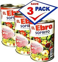El Ebro Sofrito with Bacon and Ham 15 oz. Pack of 3