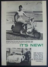 Triumph Tina Motor Scooter 1962 vintage ad 1st scooter w/ Automatic Transmission