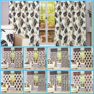 Luxury Pair of Ring Top Pencil Pleat Window Curtains eyelet Fully Lined tie Back