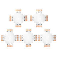 SUPERNIGHT® 5x Criss-cross Shape 4-PIN PCB Connector for 10mm 5050 RGB LED Strip