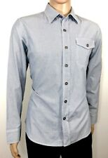 CONVERSE ONE STAR Men's Shirt sz M Blue Striped Regular Long Sleeve one pocket