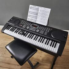 61 Key Electronic Keyboard MP3 Musical Instrument Digital Piano Mic UK Plug