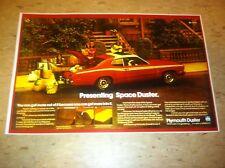 Vintage Plymouth Duster Mopar Advertisement Poster Man Cave Gift Art Decor
