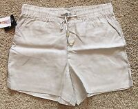 NWT Women's Sandstone Ellen Tracy Linen Casual Shorts Large