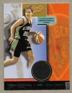 2002 WNBA Fleer Authentix Ripped Game Worn Card Becky Hammon New York Liberty