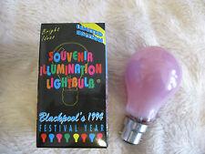 6 x Pink 60W B22 BC Bayonet Lamp Light Bulb 240V Old Style Vintage UK