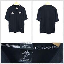 Adidas Men's Black New Zealand All Blacks Short Sleeve Rugby Polo Shirt - Medium