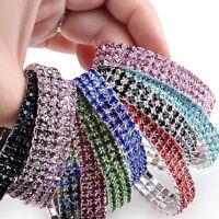 Bling Clear Crystal Rhinestone Stretch Bracelet Bangle Wedding Bridal Wristband