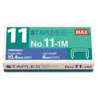 Max No. 11 Mini Staples for HD-11FLK 1/4