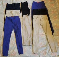 *Sale* Used! Lots of 7 junior Girls blue & khaki school pants & capris Sz 5 & 6