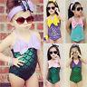Mermaid Toddler Kids Girls Swimwear Bikini Set Swimsuit Bathing Suit Clothes