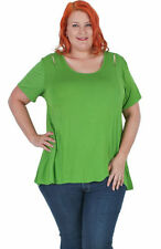 Rayon Short Sleeve Tunic Solid Tops for Women