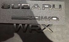 Matt Black Decal Emblem Badge For Subaru Impreza. WRX. STI. DIY