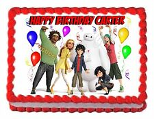 BIG HERO 6 edible party cake topper decoration frosting sheet image
