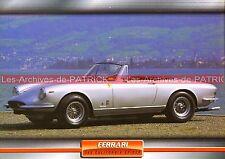 FERRARI 365 California Spider 1966 : Fiche Auto Collection