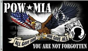 POW-MIA YOU ARE NOT FORGOTTEN 3x5 FT Flag POW MIA POWMIA Military Banner ManCave