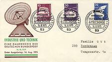 Ersttagsbrief BRD Mi-Nr. 847, 849, 852, Freimarken: Industrie und Technik (I)