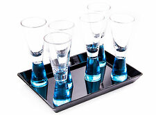 6 Shot Glasses with Tray