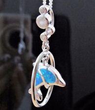 Synthetisch-hergestellte Echtschmuck-Halsketten & -Anhänger mit Opal-für Damen