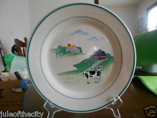 "Farmyard Collector Dinner Plate (s) 10 3/4"" Century Stoneware White Red Green !"