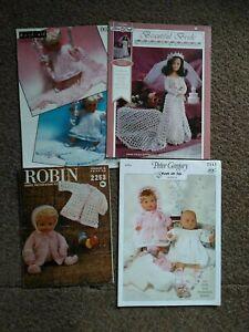 Job lot 4  Dolls clothes Knitting & Crochet Patterns  ~ various designers