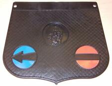 """Vintage Vespa and Lambretta scooter mudflap 6"""" X 6"""" with inserts ITALY 132-BLACK"""