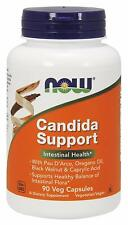 NOW Candida Supplements Support  Digestive Health 90 Veg Capsules FREE SHIPPING!