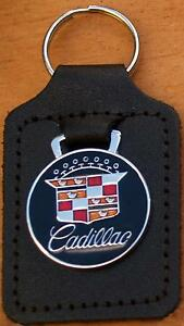 Cadillac Keyring Key Ring - badge mounted on a leather fob