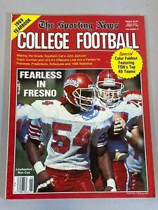 Sporting News College Football Magazine 1989 Ron Cox John Jackson Frank Cornish