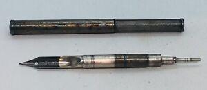 Antique Rare Sterling Silver Combo Fountain Pen & Pencil