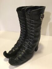 "8"" WITCH BOOTS Floral Spider Web Skull HALLOWEEN Decor NEW FREE Shipping"
