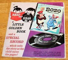 Little Golden Books: Bozo the Clown Finds A Friend Read & Hear Record/Book 45Rpm