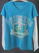 Total Girl, Large (6), Blue Princess, Long Sleeve, V-neck Top, New with Tags