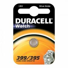 2 Piles D395-399  AG7 DURACELL bouton oxyde d'argent