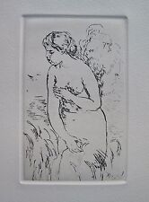 Pierre-Auguste Renoir STANDING BATHER Etching with Certificate in Mint Condition