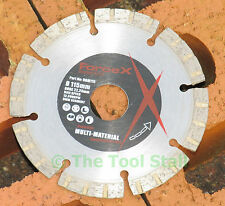 "115mm DIAMOND CUTTING DISC / BLADE 4.5"" FORCE X STONE BRICK CONCRETE"