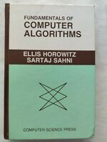 BOOK FUNDAMENTALS OF COMPUTER ALGORITHMS HOROWITZ SAHNI 0914894226